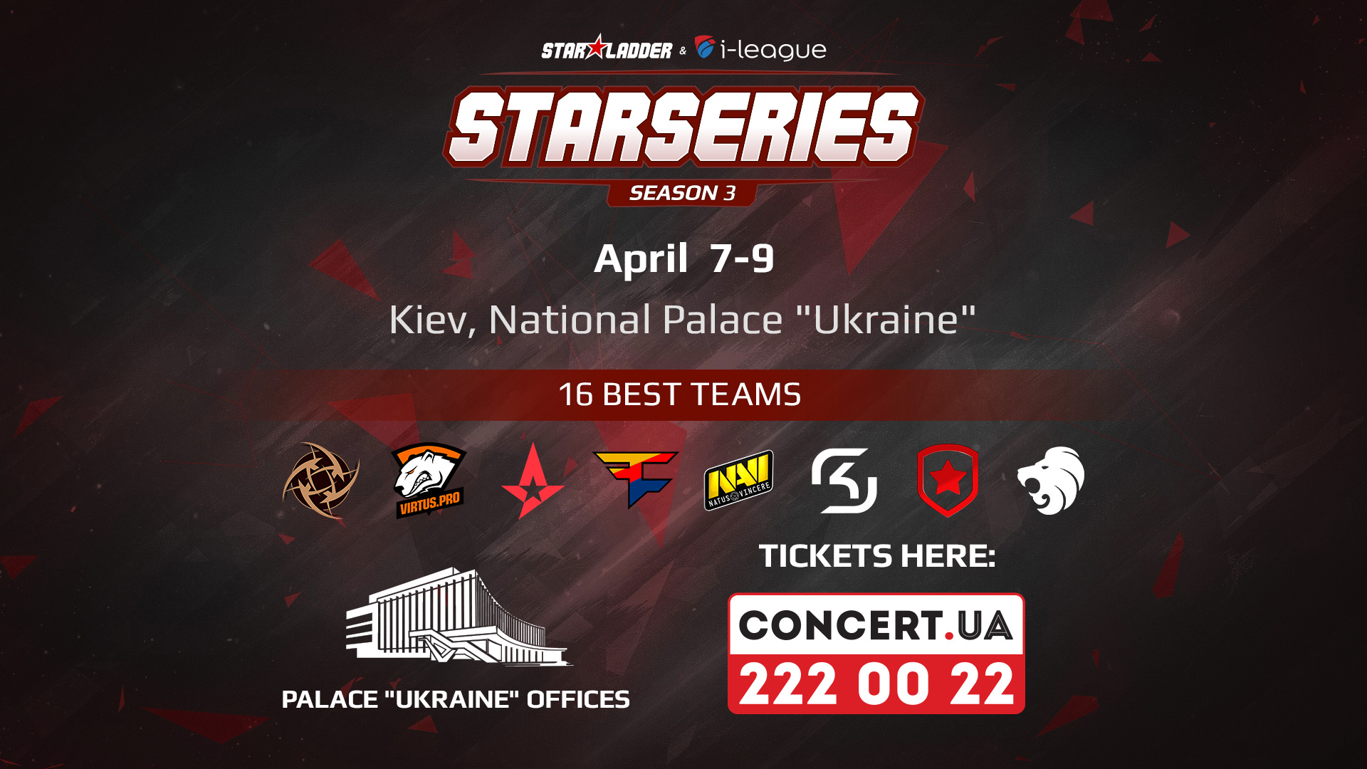 SL i-League CS:GO StarSeries S3 Tickets